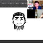 シンプルな棒人間から、濃い顔の似顔絵が描けるのか?