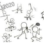 棒人間でオリンピック③ 躍動感のあるかわいいイラスト10選