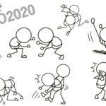 格闘技で棒人間7選 絡み合う二人組を描く