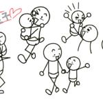 親子の棒人間5選!仲良し2人組の描き方
