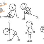 「身体をねじる棒人間」の描き方