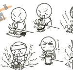 料理する棒人間の描き方