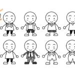 簡単!!「服を着た棒人間」の描き方